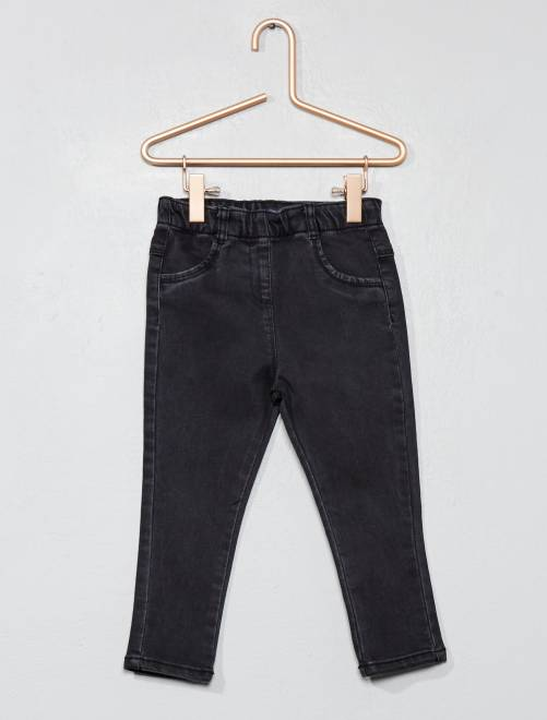 Pantalon denim style tregging                                         noir