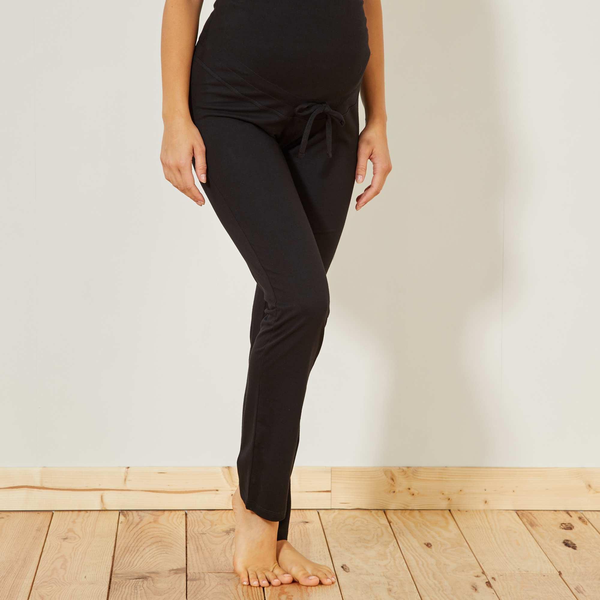 Couleur : noir, marine, ,, - Taille : 42/44, 34/36, 46/48,38/40,50/52Le pantalon en jersey ultra confortable ! - Pantalon jersey - Ceinture jersey -