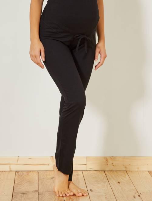Pantalon détente de maternité éco-conçu                     noir