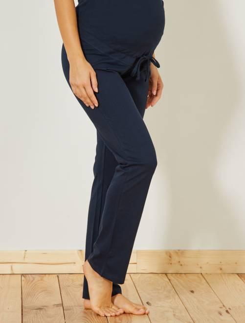 Pantalon détente de maternité                                         marine