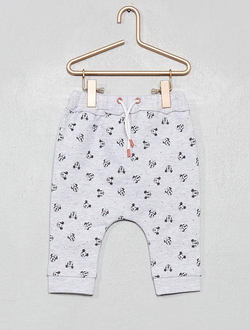Pantalon 'Disney' en molleton fourré                                         gris