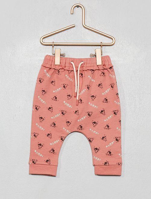 Pantalon 'Disney' en molleton fourré                     rose