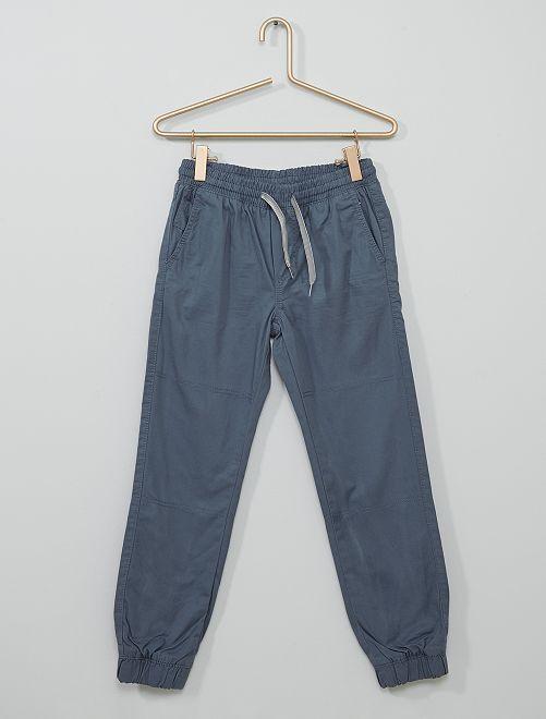 Pantalon doublé                                                     bleu gris