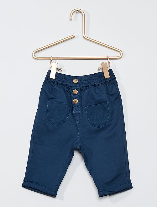 Pantalon doublé éco-conçu                             bleu marine