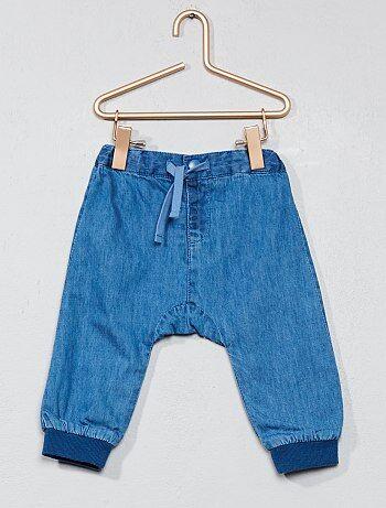 Pantalon doublé en denim - Kiabi