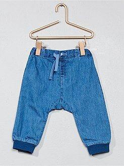 Garçon 0-36 mois - Pantalon doublé en denim - Kiabi