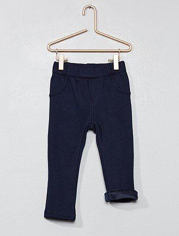 Pantalon doublé en polaire - Kiabi