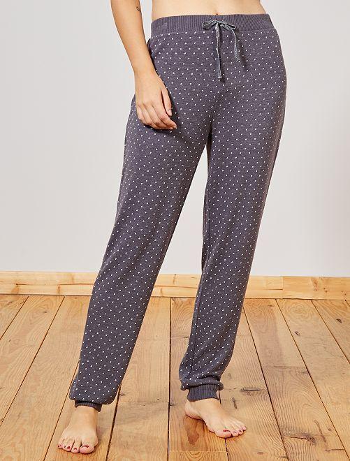 Pantalon doux imprimé                                         gris foncé