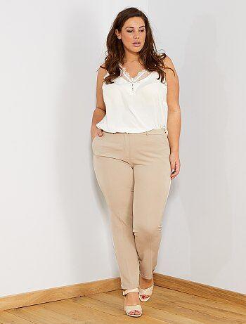 Pantalon droit avec bandes côté