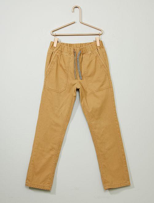 Pantalon droit chaud                                                     camel