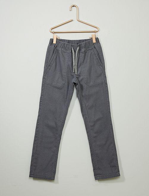 Pantalon droit chaud                                                                 gris
