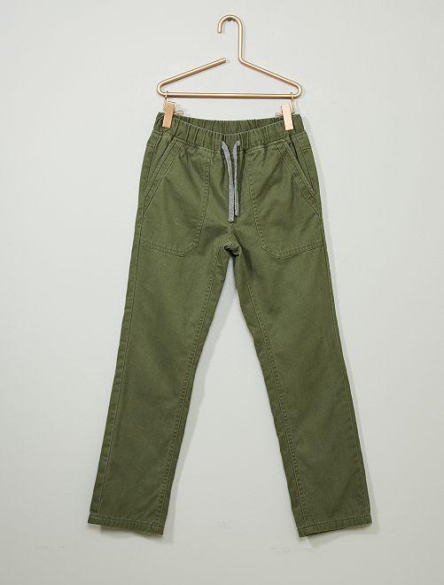 Pantalon droit chaud                                                                 kaki