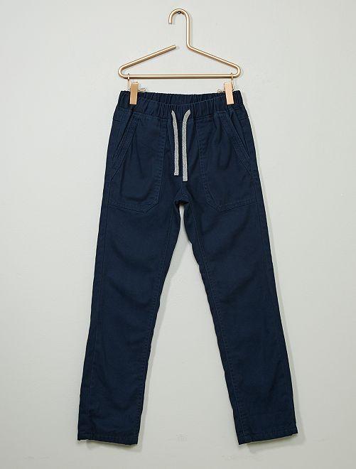 Pantalon droit chaud                                                     marine