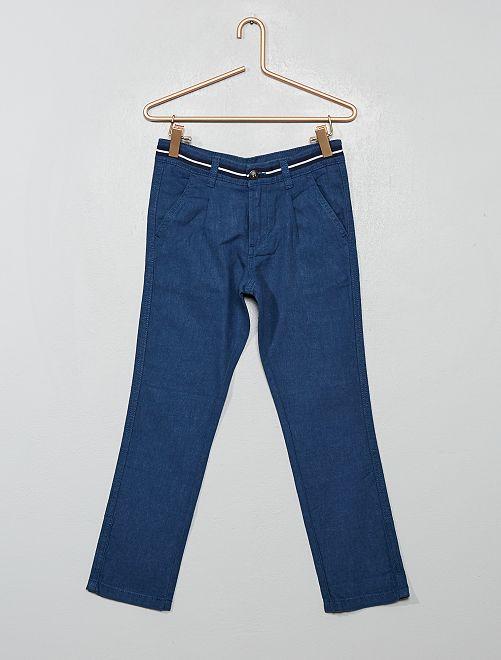 Pantalon droit chino                                         bleu