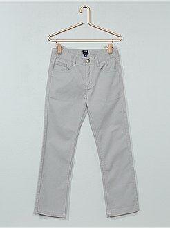 Pantalon - Pantalon droit en twill - Kiabi