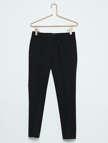 Pantalon droit en viscose jersey - Kiabi