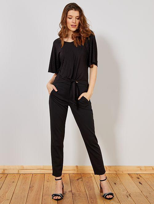 Pantalon droit fluide 'JDY'                                         noir Femme