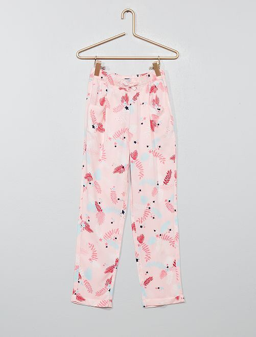 9a5d7c63a40c9 Pantalon droit fluide Fille - rose - Kiabi - 9,00€