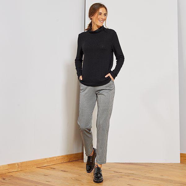 pantalon femme pied de poule