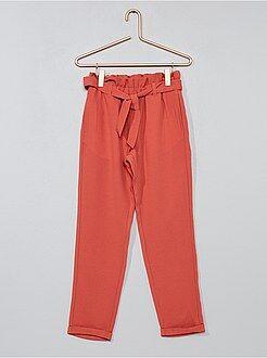 Fille 3-12 ans - Pantalon droit matière fluide imprimé - Kiabi