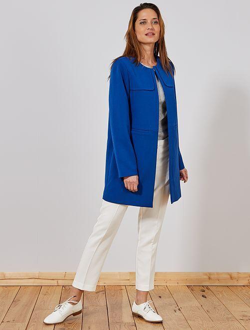 Pantalon droit style tailleur                                                                 blanc Femme