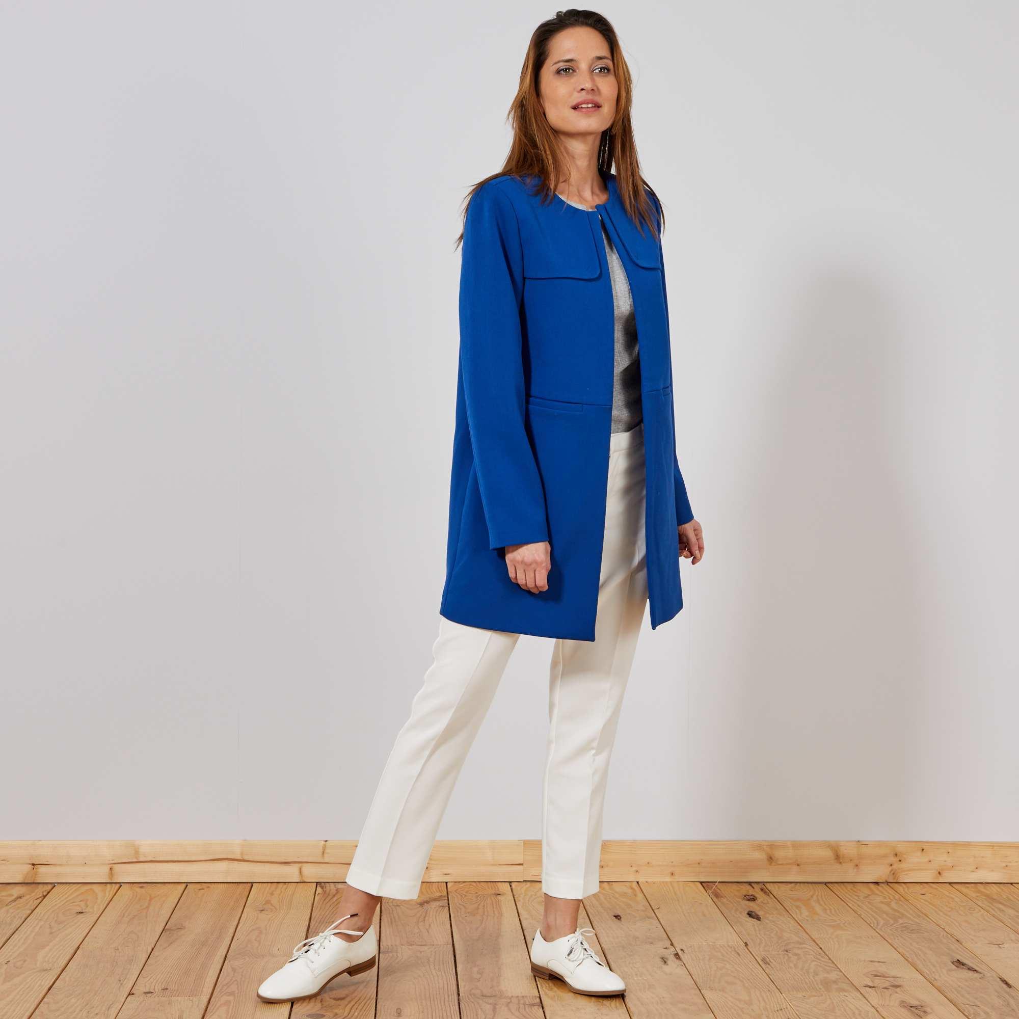 5045c6d2ba8be Pantalon droit style tailleur blanc Femme. Loading zoom