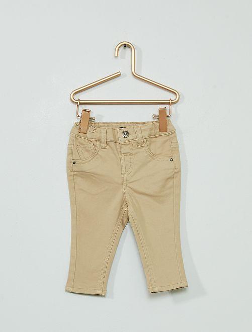 Pantalon éco-conçu                                                                                                                                                     beige