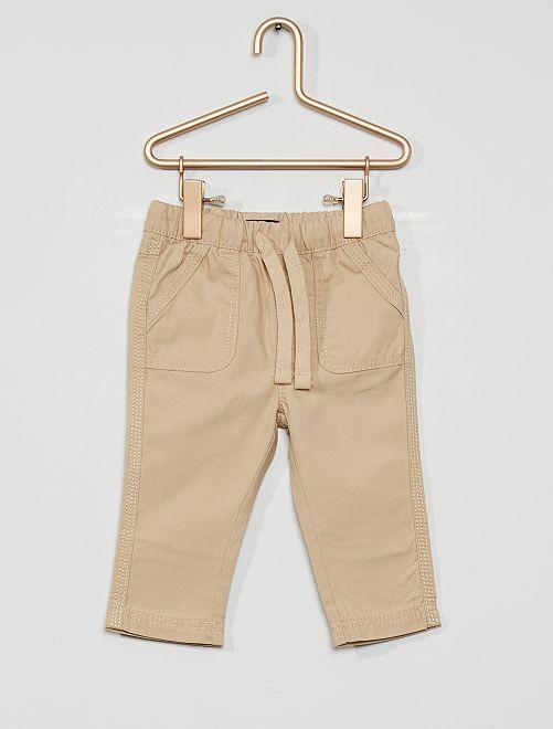 Pantalon éco-conçu                                                                 beige gris