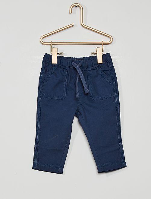 Pantalon éco-conçu                                                     bleu