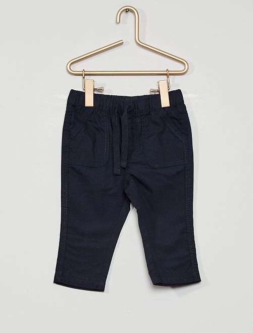 Pantalon éco-conçu                                                                 bleu marine