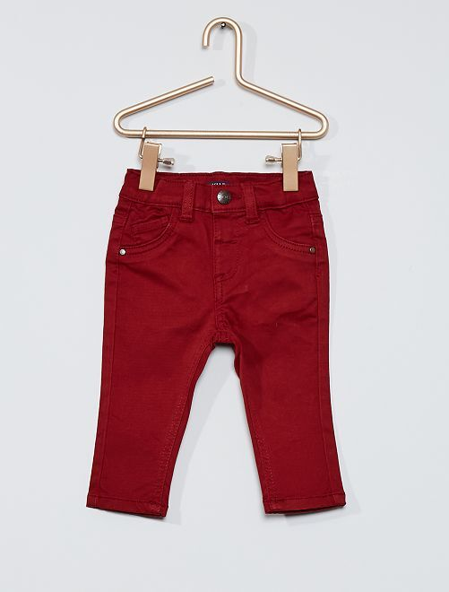 Pantalon éco-conçu                                                                             bordeaux