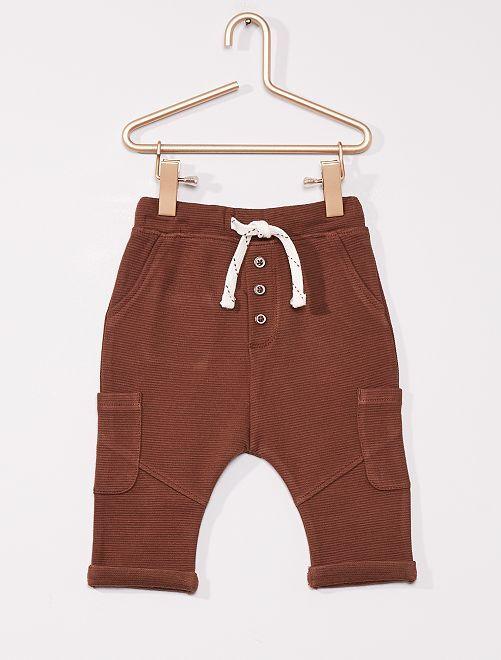 Pantalon éco-conçu                                                     brun foncé