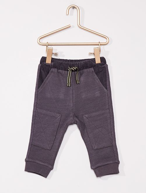 Pantalon éco-conçu confortable                             bleu foncé