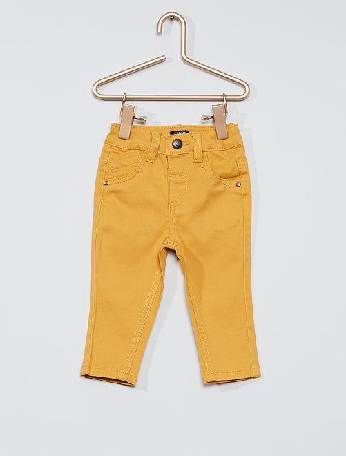 Pantalon éco-conçu                                                                                                     jaune moutarde