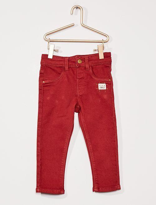 Pantalon éco-conçu                                         rouge bordeaux