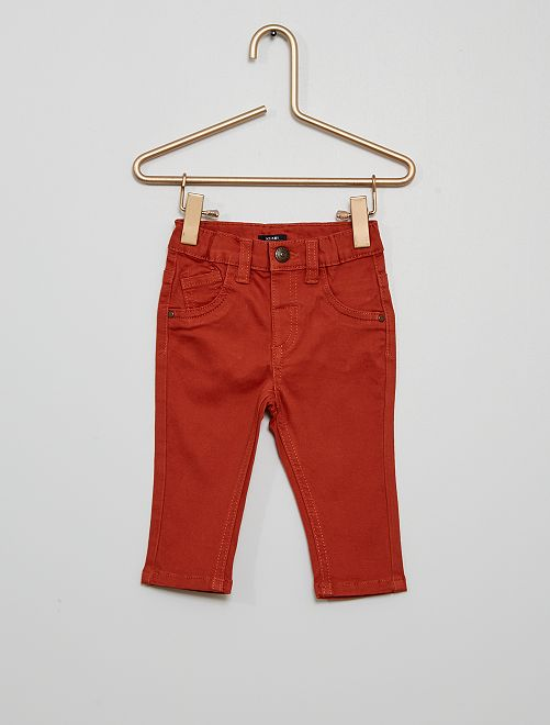 Pantalon éco-conçu                                                                                                                             rouge brique