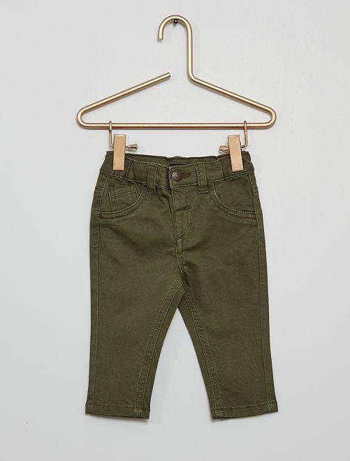 Pantalon éco-conçu                                                                                                                             vert foncé