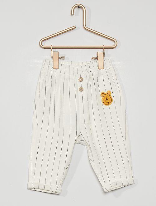 Pantalon éco-conçu 'Winnie l'ourson' de 'Disney'                             blanc