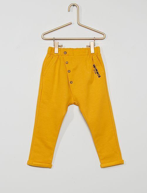 Pantalon éco-conçu 'Winnie l'ourson'                             jaune