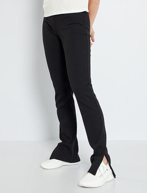 Pantalon en bootcut                             noir