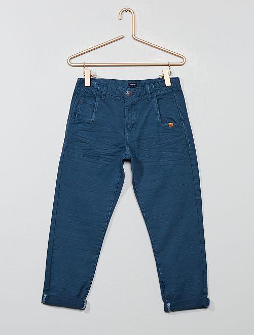 Pantalon en canvas strié                                         bleu gris Garçon