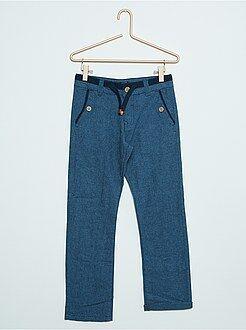 Pantalon - Pantalon en coton et lin