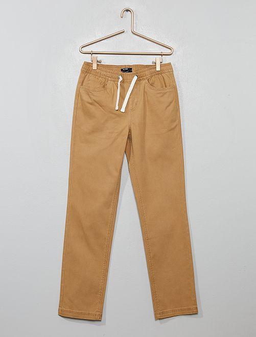 Pantalon en coton stretch                                         beige