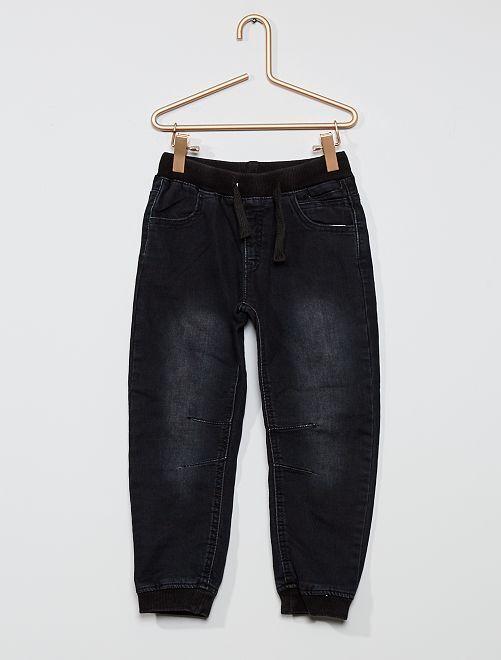 Pantalon en coton stretch                             denim gris