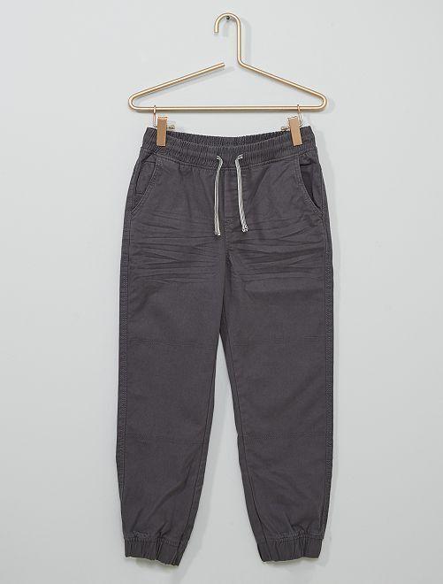 Pantalon en coton stretch Enfant rond                                         gris foncé