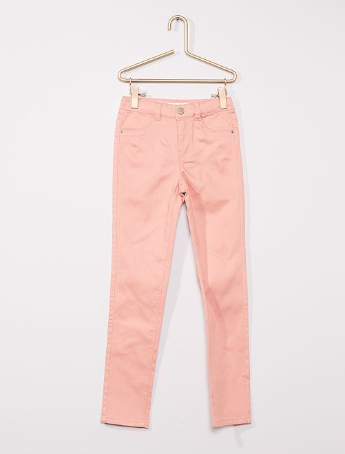 Pantalon en coton stretch enfants fins                                                                 rose