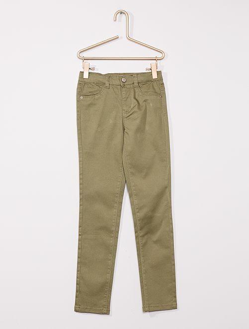 Pantalon en coton stretch enfants fins                                                                 vert