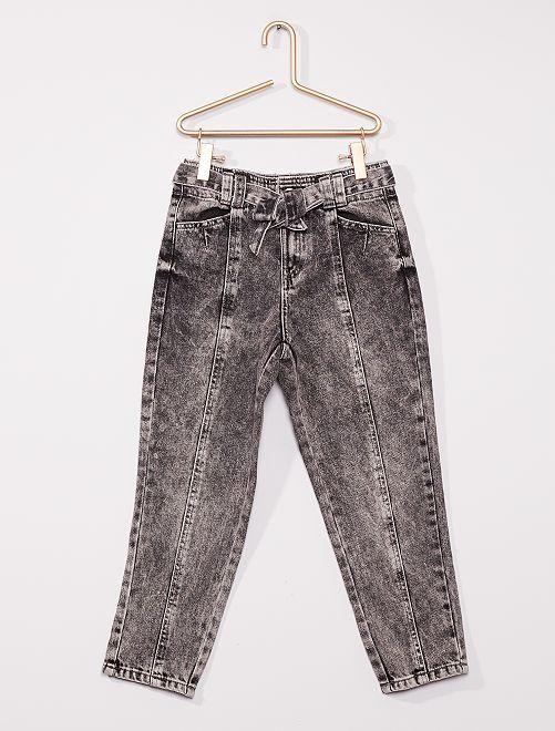 Pantalon en denim avec ceinture                                                                 gris