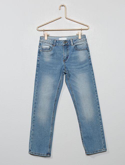 Pantalon en denim délavé                                         bleu