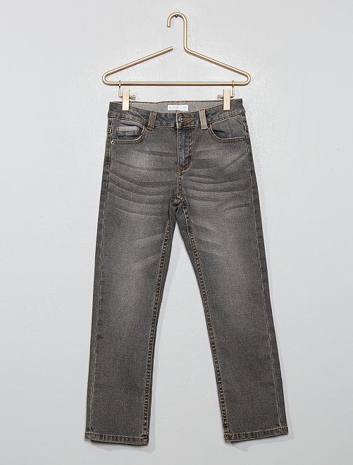 Pantalon en denim délavé                             gris